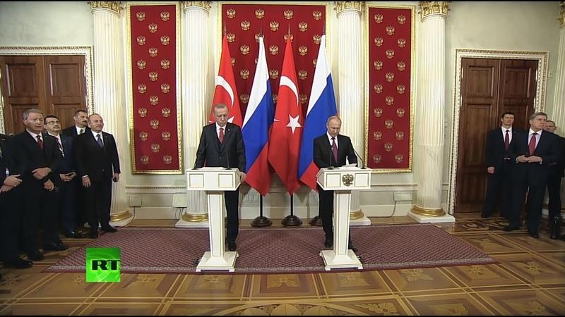Пресс-конференция Путина и Эрдогана по итогам переговоров в Москве — LIVE
