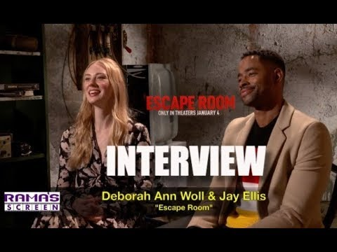 My Interview with 'ESCAPE ROOM' Movie Stars, Deborah Ann Woll and Jay Ellis