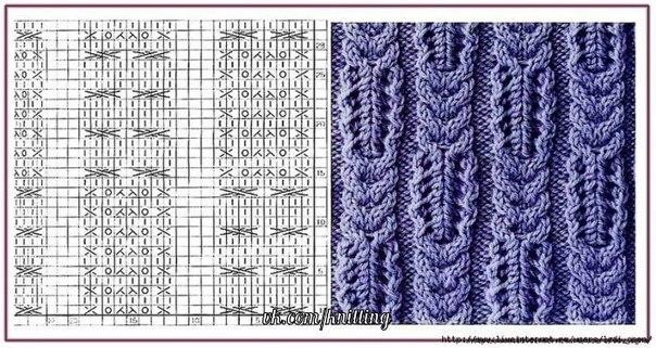 Вязание спицами вязаные шапки шарфы шали снуды схемы