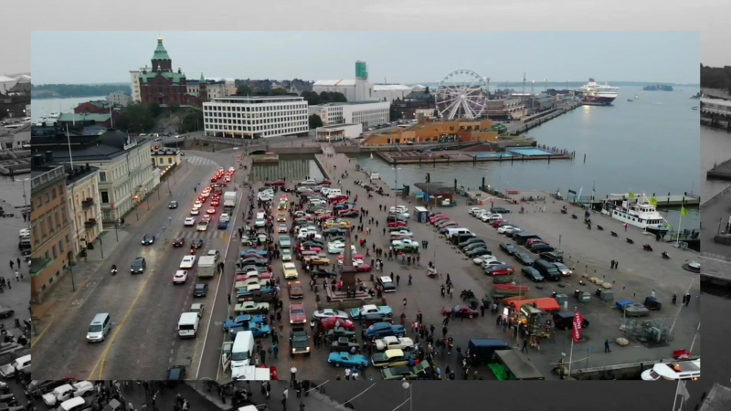 Автовыстовка ретро авто в Хельсинки | Ракурсы с квадрокоптера 📹 ✈