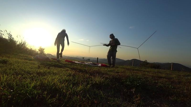 Тест палатки MSR Hubba Hubba NX на вершине горы.