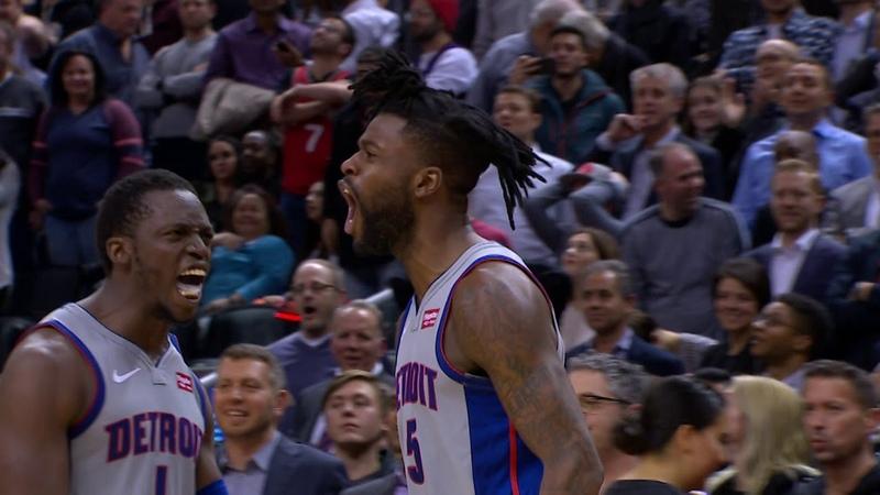 Reggie Bullock's Buzzer Beater Wins It For The Pistons! | November 14, 2018 NBANews NBA Pistons