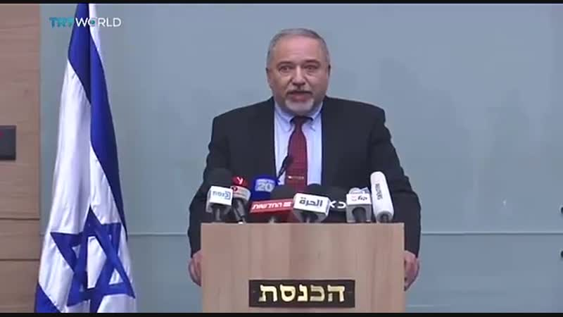 Palestinian group Hamas says the resignation of Israels defence minister is a political victory for