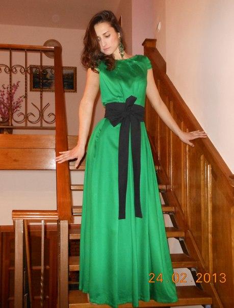 Вечернее платье своими руками в пол
