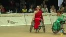Выступление в общей программе с танцем Румба нашей яркой параспортсменки под номером шестнадцать на международных соревнованиях Кубок Континенто...