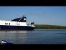 2018-08-02, паром DFDS Optima Seaways в акватории порта, округ Клайпеды, Смильтине.