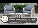 Unique Wooden Wicker Outdoor Furniture Sets RASF-182   ATC Furniture