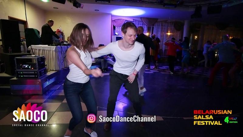 Alexandr Blitkin and Anastasiya Shvayba Salsa Dancing at Belarusian Salsa Festival, Fri 28.09.2018