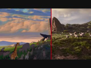 The Lion King Trailer Side-By-Side Comparison- 2019 vs 1994