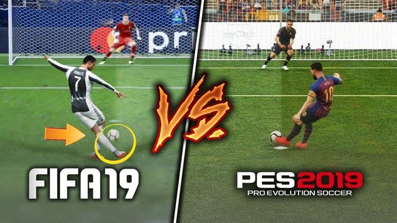 FIFA 19 vs PES 19: КАКАЯ ИГРА ЛУЧШЕ? РЕАЛЬНЫЙ БАТЛ