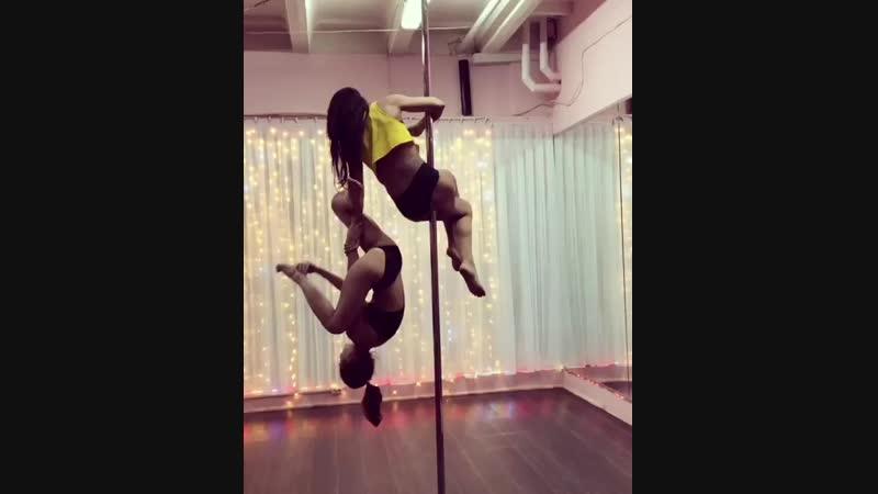 Pole dance duo