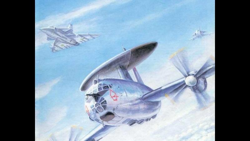 Tu-126 Radar scan test and Mig-21 support
