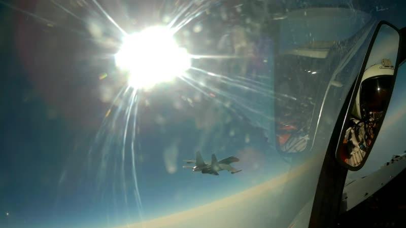 Летчики-истребители ЮВО отработали перехват воздушных целей в небе над Кубанью