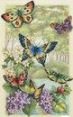 Код для вставки на сайт или форум.  Скачали: 1675 раз(а). Butterfly and leaves.  Схема вышивки крестом в формате XSD.