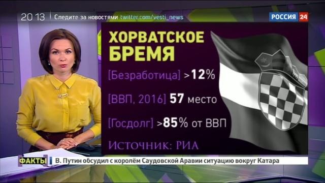 Новости на Россия 24 • Вован и Лексус разыграли премьера Хорватии от лица Гройсмана