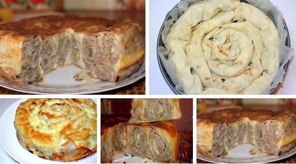 Пирог из лаваша в духовке рецепты с с яблоками