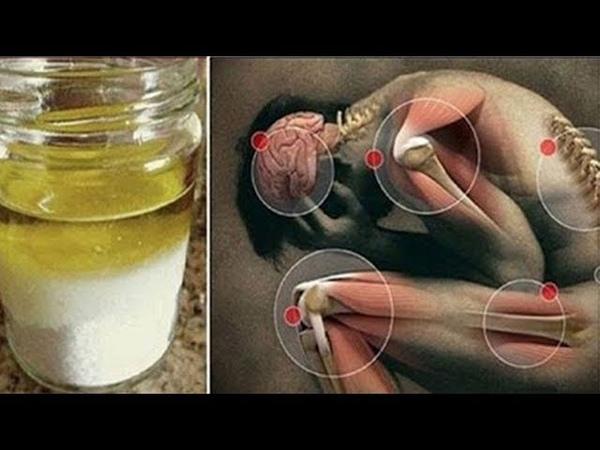 Mische in wenig Salz und Olivenöl und Du wirst über Jahre hinweg keinen Schmerz mehr haben!