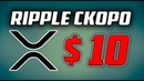 RIPPLE БУДЕТ СТОИТЬ 10$ ДОЛЛАРОВ! 🔴 ПРОГНОЗ КУРСА РИПЛ [XRP] И БИТКОИН НА 2019 ГОД