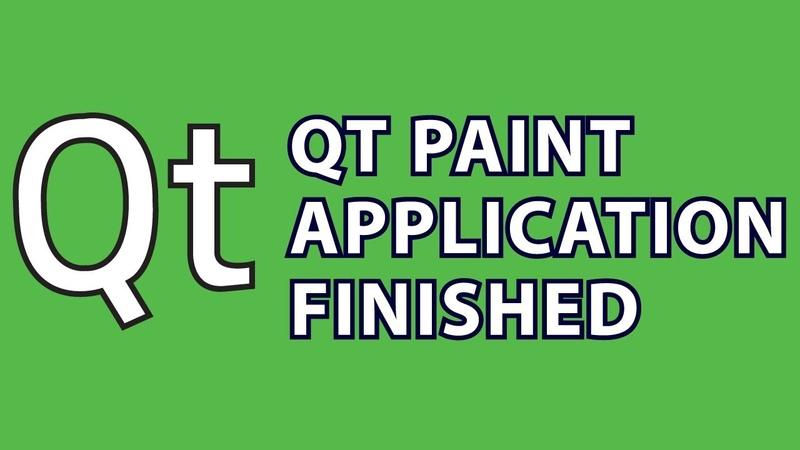Qt Tutorial 5 : Finish Paint App