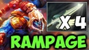 4x Heaven's Halberd WTF Build! Ace Rampage Huskar Fountain Camp