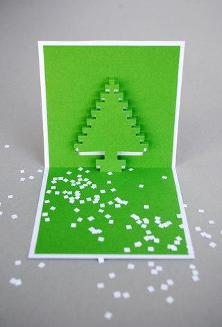 Новому году надо сделать поздравительные открытки