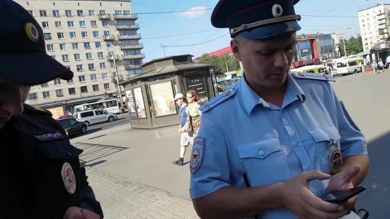 Ментовской произвол на улицах Петербурга. Проверка документов без законных оснований.
