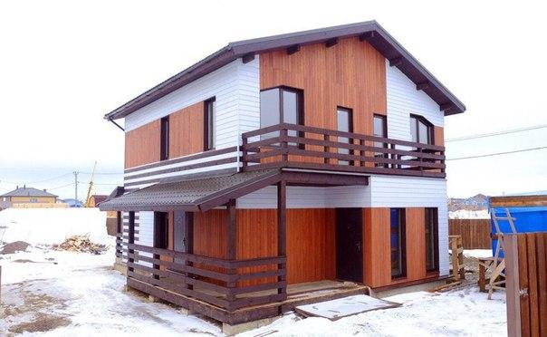 Шикарный каркасный дом