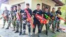 LTT Nerf War Captain SEAL X Warriors Nerf Guns Fight Criminal Group Rescue Alliance Swat