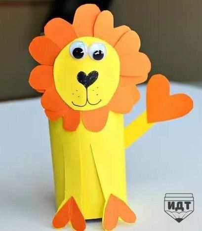 Львята из бумаги своими руками