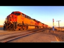 BNSF Trains in Mojave, CA (March 22nd, 2014)