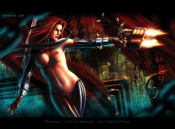 Полуголая Рейн, героиня игры BloodRayne 2. Darkest Dungeon на сайте Nude-па