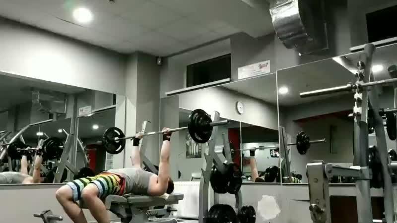 Калифорнийский жим лёжа 55 кг на 15 повторений! 07.01.2019