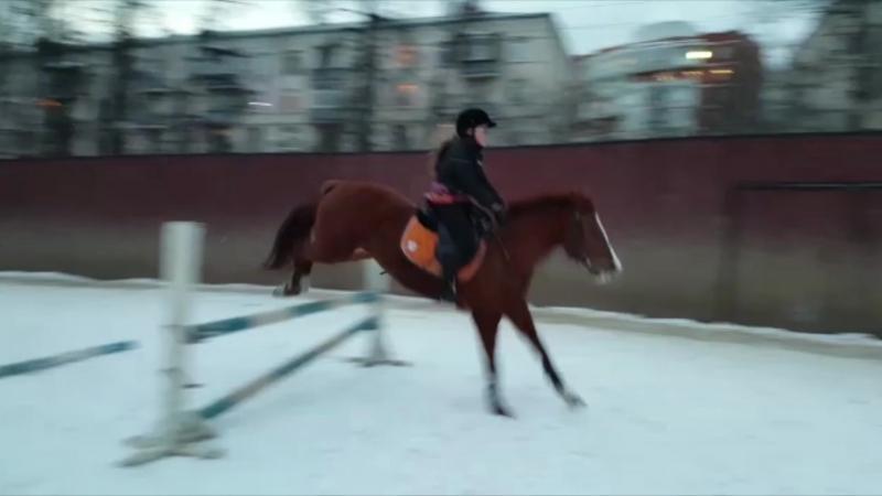 Первые прыжки на Барыне :