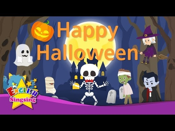 Kids vocabulary - Happy Halloween (Ver.2) - Halloween costumes - English educational video for kids
