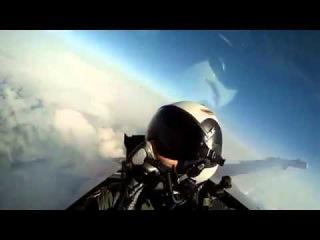 Вид из кабины истребителя  360p