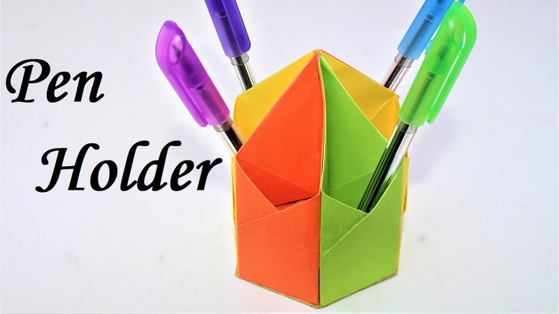 How to make a pen stand with paper step by step || pen stand || pen holder