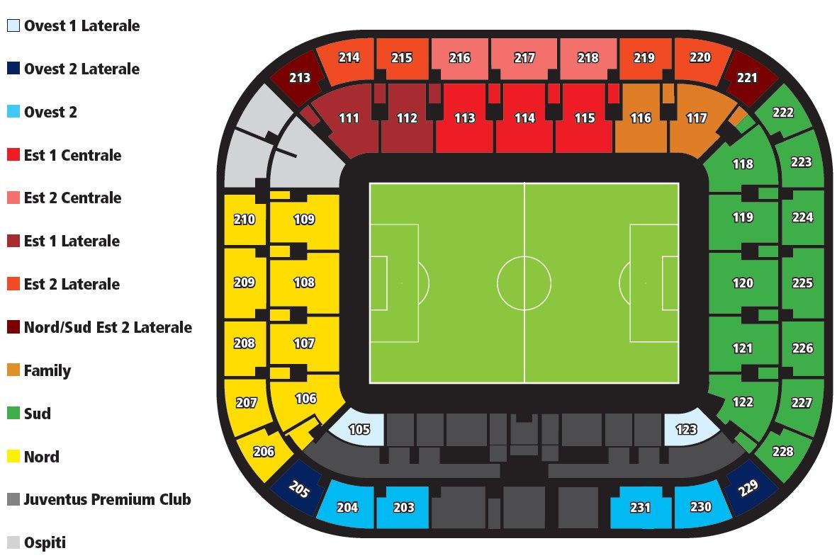 Ознакомьтесь со схемой стадиона.