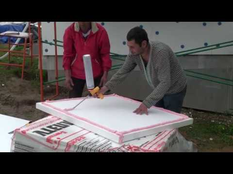 Как правильно наносится клей-пена на лист пенопласта, приклейка листов пенопласта на каркасный дом