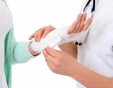 Марлевая повязка может быть лучшим для ранения запястья.