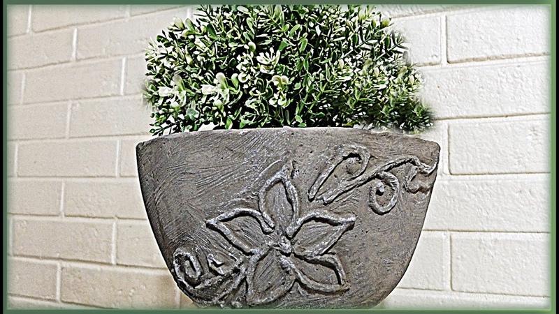 Роспись бетоном Лепим вазон своими руками из бетона