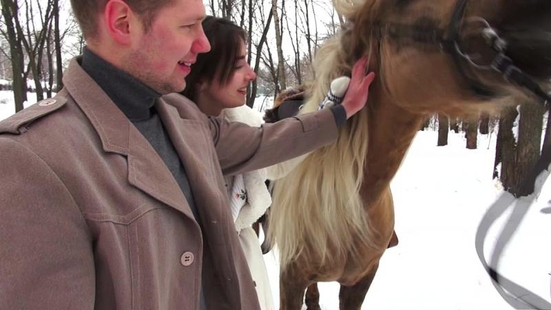 Видео Марии Беляевой (vk.com/maryshrimp) с Winter walk on horseback workshop