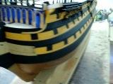 Модель английского парусного корабля