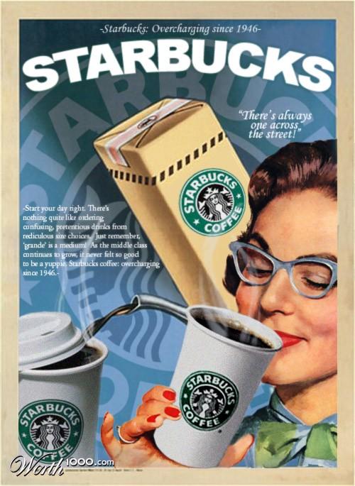 Подборка рекламных кофейных плакатов