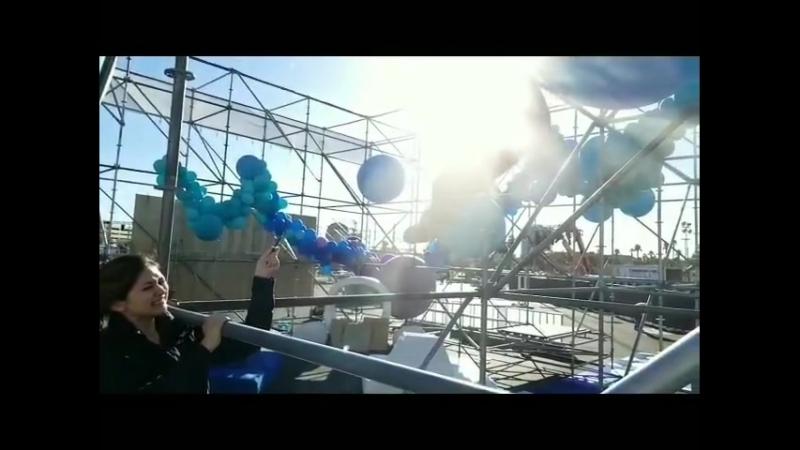 8 foot balloons make a pretty big pop