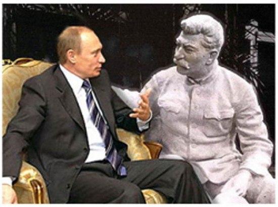 Образ потенциального общения В.В. Путина и И.В. Сталина