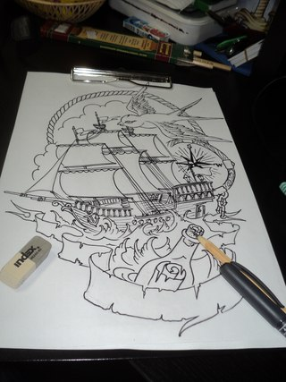 эскизы на морскую тему: