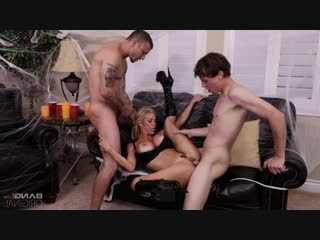 Alexis fawx - fucks her stepson and his buddy on halloween night