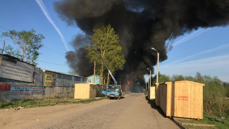 Пожар в Металлострой