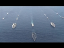 3 Carrier Strike Group Formation In Western Pacific Ocean