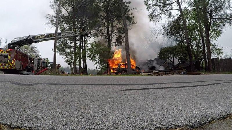 Hurst, Texas - Car crashNatural Gas Explosion and house fire